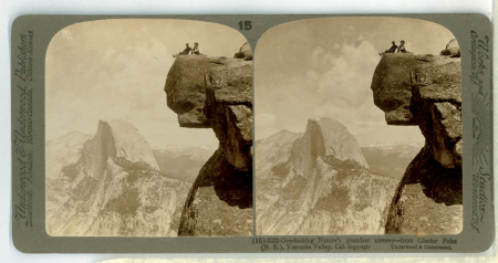 (15) 6031 - Overlooking Nature's grandest scenary - from Glacier Point (N.E.), Yosemite Valley, Cal.