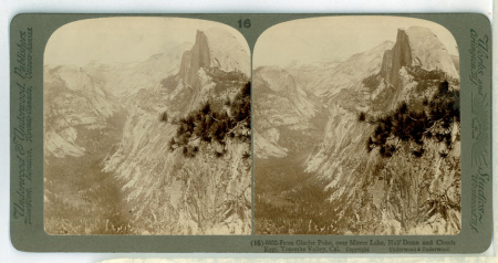 (16) 6032 - From Glacier Point, over Mirror Lake, Half Dome and Clouds Rest, Yosemite Valley, Cal.