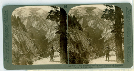 (18) 6034 - Amid majestic heights and chasms of Yosemite Valley, (N.N.W.), Cal.