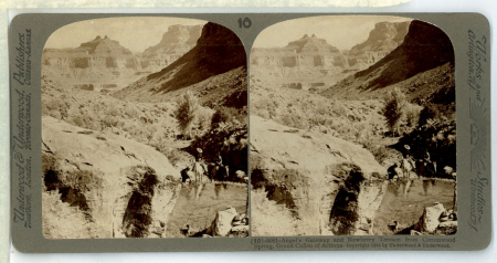(10) 6081 - Angel's Gateway and Newberry Terrace from Cottonwood Spring, Grand Cañon of Arizona