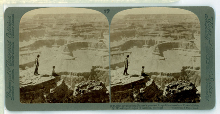(17) 6088 - Overlooking Nature's greatest Amphitheatre - from Rowe's Point, N.W. - Grand Cañon of Arizona