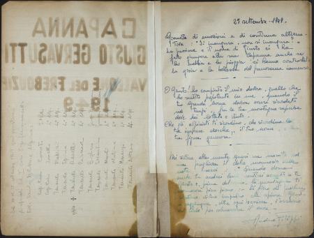 Libro della Capanna Giusto Gervasutti nel Vallone Frébodze : 25 settembre 1949-7 luglio 1957