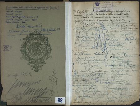 Libro del Rifugio-Albergo al Colle del Gigante : 5 agosto 1952-30 luglio 1953