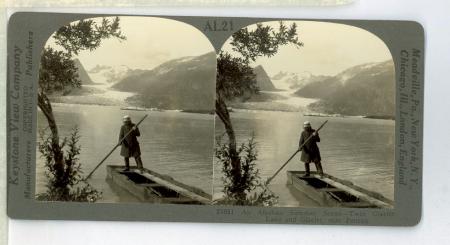 AL21 (21050) - An Alaskan Summer Scene - Twin Glacier Lake and Glacier, near Juneau