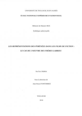 Les représentations des Pyrénées dans les films de fiction