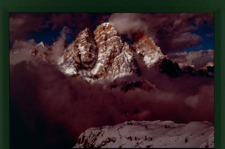 [Dolomiti: il Monte Cristallo dopo un periodo di intense nevicate, inverno 1962]