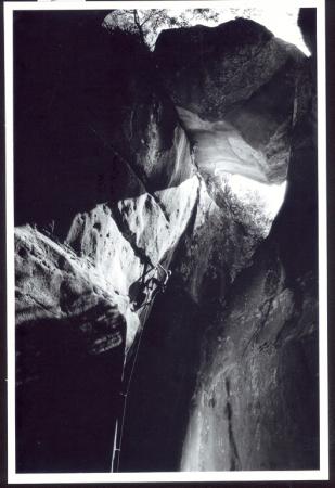 [François Legrand in arrampicata]