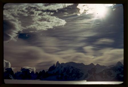 [Argentina, Patagonia: Hielo Continental Sur con il Cerro Torre e il Cerro Adela, marzo 1971]