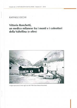 Vittorio Ronchetti, un medico milanese fra i monti e i coleotteri della Valtellina (e oltre)