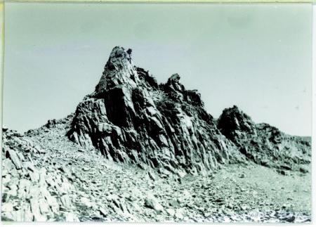 [Veduta della Cima Cappuccino (3245 m) e della Cima del Pastore (3220 m) da sud ovest]