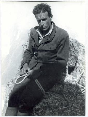 """Giusto Gervasutti il """"fortissimo"""" su una cima del Monte Bianco"""