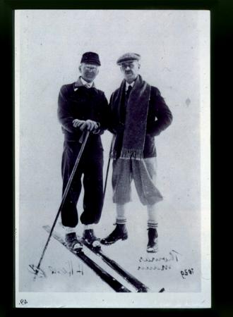 [Riproduzione di ritratto di] Thomas Mann ed H. Hesse
