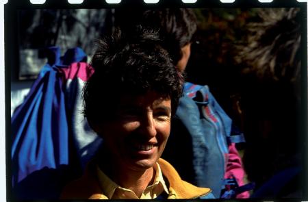 [Ritratti di Silvia Metzeltin e gruppo della prima spedizione femminile italiana al Monte Meru]