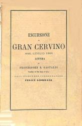 Escursione al Gran Cervino nel luglio 1866