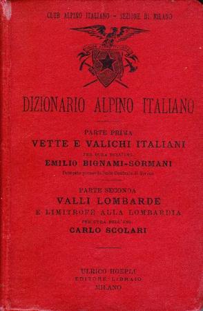 Dizionario alpino italiano