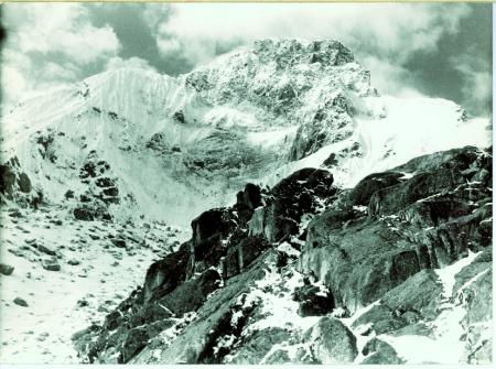 Huascaran parete nord di scorcio