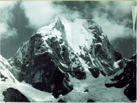 Nevado Yerupaja visto da est