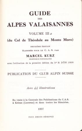 Volume 3a: Du Col de Théodule au Monte Moro