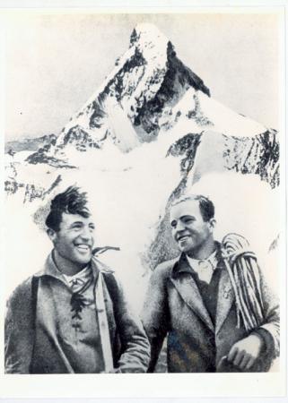 [Autore non identificato, ritratto dei fratelli Franz e Toni] Schmid