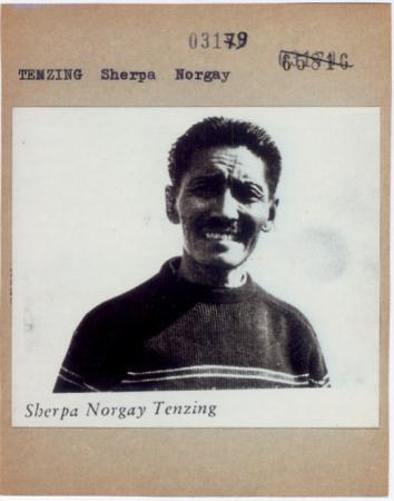 [Autore non identificato, ritratto dello Sherpa Norgay Tenzing]