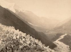Vallée de Chamonix. Vue prise du Chapeau (Savoie)