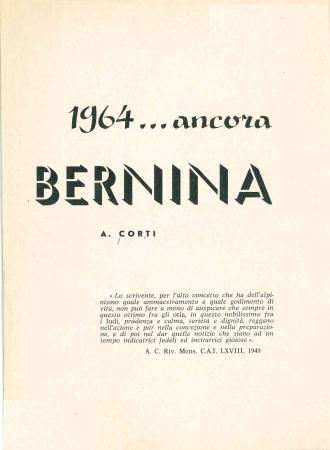 1964... ancora Bernina