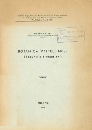 Botanica valtellinese