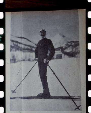 [Autore non identificato, ritratto di Ottorino Mezzalama e lo stesso in arrampicata]