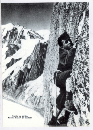 Premier de cordée - Maurice Baquet en escalade