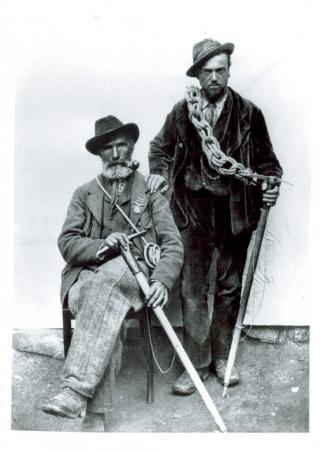 [Autore non identificato, ritratto di] J.A. Carrel e A. Pession