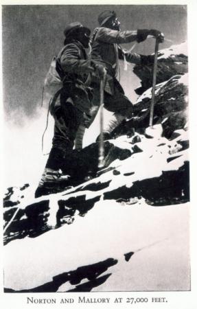 [Autore non identificato,] Norton and Mallory at 27,000 feet.