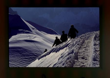 [Riprese varie dell'Aiguille du Midi, Monte Bianco]
