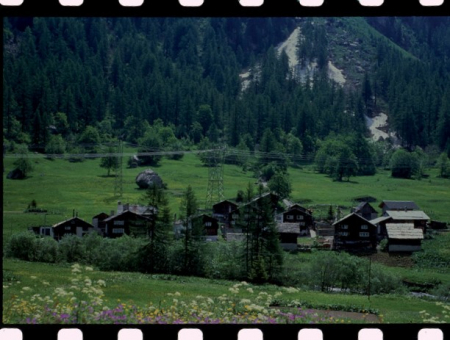 [Riprese varie della Val Formazza e Alpi Lepontine, riproduzioni di stampe e diapositive]