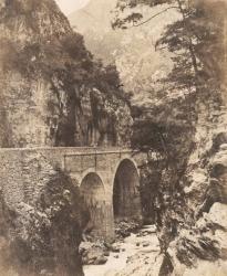 Sauveterre. Basses-Pyrénées. Gorge de la Nouvelle Route des Eaux-Chaudes