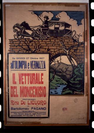"""[Riproduzioni di fotografie e locandina de """"Il vetturale del Moncenisio"""", """"Il gigante delle Dolomiti"""", """"La casa sotto la neve""""]"""