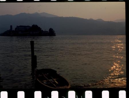 [Riprese varie del Lago d'Orta: Isola di San Giulio e Sacro Monte di Orta]