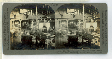 """GC2 (29094) - The """"Rendezvous"""" Hotel El Tovar, where Tourists Meet Informally, Grand Canyon Nat.[ional] Park"""