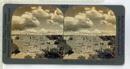 GC3 (29095) - Hopi House from El Tovar Hotel, Reproduction of Ancient Hopi Community Dwelling, Grand Canyon Nat.[ional]