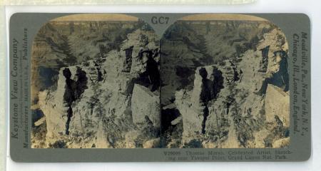 GC7 (V29099) - Thomas Moran, Celebrated Artist, Sketching near Yavapai Point, Grand Canyon Nat.[ional] Park