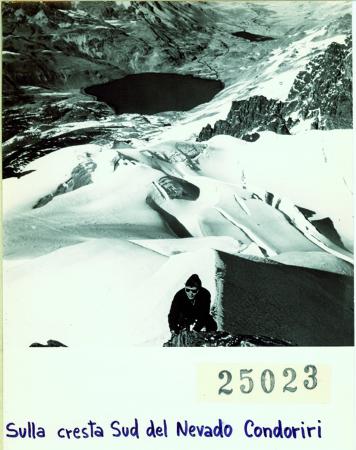 Sulla cresta sud del Nevado Condoriri