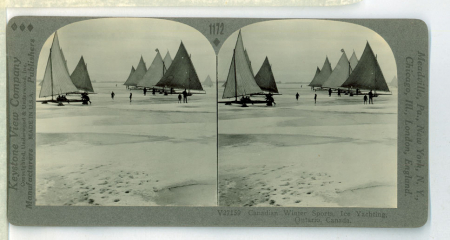 1172 V27159 - Canadian Winter Sports, Ice Yachting, Ontario, Canada