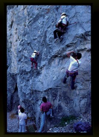 [Riprese varie di gara di arrampicata: Sportroccia 1985, Bardonecchia]