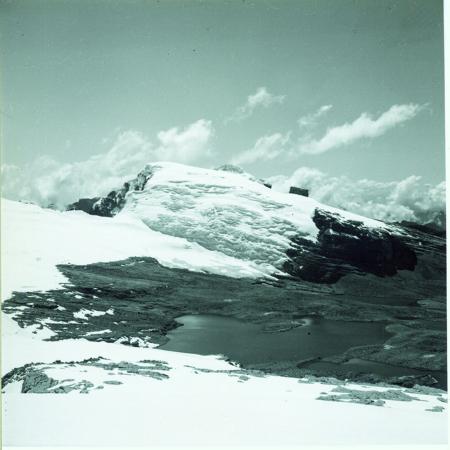 Nevado del Pulpito. Sulla destra picco roccioso chiamato Pulpito del Diablo