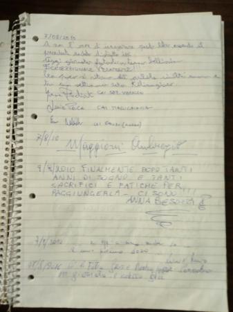 Libro del rifugio Capanna Margherita