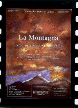 """[Mostra """"La montagna, 11 pittori contemporanei"""", Belluno: locandina e cartolina]"""