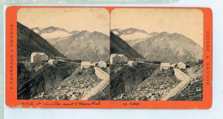 N. 372 La Furka et Glacier du Mutten (Hotel et montée versant d'Hospenthal)