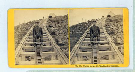 No. 23. Sliding down Mt. Washington Railroad