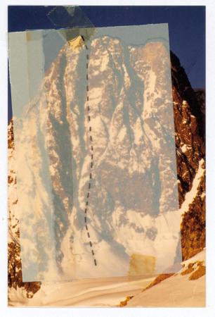 """Aiguille des Glaciers, Couloir """"Heidi"""" 1ère ascension"""