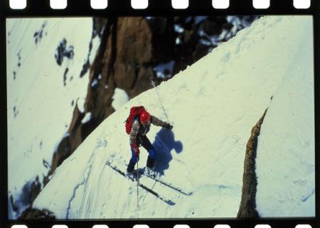 [Sci estremo: riprese varie di alpinista sul Monte Bianco]