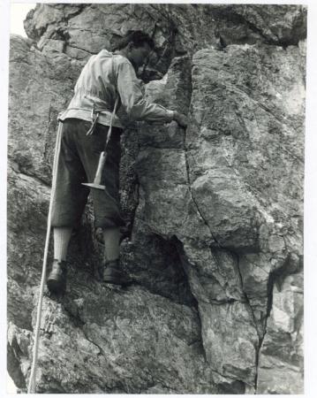 Armando Biancardi in arrampicata